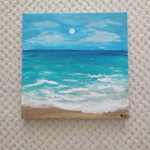 A tenger habja, Otthon & lakás, Dekoráció, Képzőművészet, Kép, Festmény, Akril, Napi festmény, kép, Festett tárgyak, Festészet, 20×20-as feszített vászonra, akril festékkel készítettem el ezt a képet! :)\nTöbb fajta méretben kész..., Meska