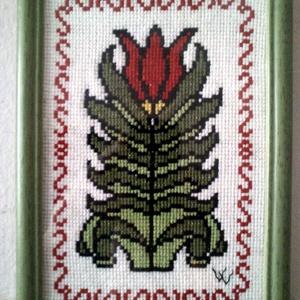 Tulipánfa keresztszemes kép, Otthon & Lakás, Kép & Falikép, Dekoráció, Hímzés, Meska