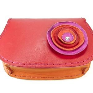 Poppys íves bőrpénztárca (Vezsuzsi) - Meska.hu