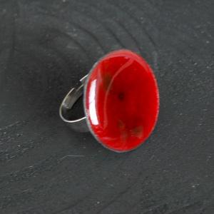 Tűzzománc nemesacél gyűrű - nemesacél gyűrű - tűzzománc gyűrű- bordó színek - modern gyűrű - bordó gyűrű, Ékszer, Gyűrű, Tűzzománc, Fémmegmunkálás, GALAXY GYŰRŰ\n\nGyönyörű színekben pompázó tűzzománc gyűrű nemesacél gyűrű alappal.\n\nA tűzzománc kör á..., Meska
