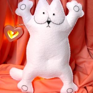 Simon's cat ajándék I love You szívecskével! <3, Játék, Férfiaknak, Játékfigura, Varrás, Hamarosan itt a szerelmesek napja, ne felejtsd el!   Ez a Simon's cat figura tökéletes ajándék lány..., Meska
