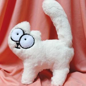 Simon's cat/ Simon macskája saját tervezésű 3D-s plüss cica, Játék, Férfiaknak, Játékfigura, Varrás, Ez a cuki pihe puha Simon's cat egyedi, saját tervezés alapján készült. Extra puha műszőrméből kézz..., Meska