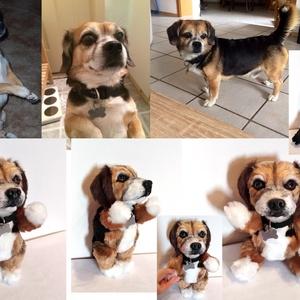 Kép alapján készülő kutyamás/ kutya hasonmás plüss/ jópofa plüssfigura, Gyerek & játék, Játék, Plüssállat, rongyjáték, Otthon & lakás, Varrás, Gyurma, A képen láthatók rendelésre, kép alapján készültek. Szívesen elkészítem a Te kutyusod alapján is ezt..., Meska