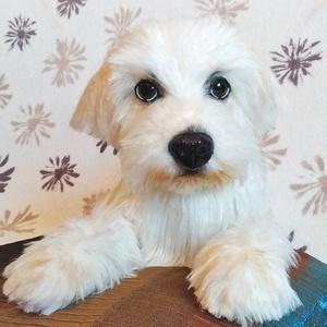 Életnagyságú, Élethű Bichon Havanese plüss kutya/ Prémium minőségű műszőrméből, Gyerek & játék, Játék, Plüssállat, rongyjáték, Otthon & lakás, Varrás, Gyurma, Bichon havanese fekvő plüss kutyusom rendelésre készült egy Tv sorozathoz :), de szívesen elkészítem..., Meska