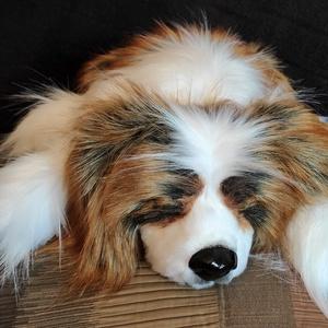 Életnagyságú, élethű Cavalier King Charles Spániel/ PRÉMIUM műszőrméből/ alvó plüss kutya, Gyerek & játék, Játék, Plüssállat, rongyjáték, Otthon & lakás, Varrás, Gyurma, Egy nagyon kedves hölgynek készült a képeken lévő Cavalier King Charles Spániel életnagyságú, élethű..., Meska