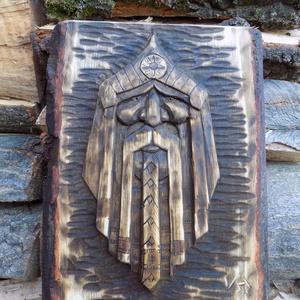 Nimród, Falra akasztható dekor, Dekoráció, Otthon & Lakás, Famegmunkálás, Hársfába faragott dombormű.\nMéretei :30x24 cm\nPácolva olajozva, Meska