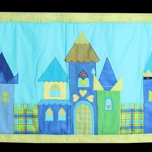 Cifra palota, Gyerek & játék, Otthon & lakás, Gyerekszoba, Dekoráció, Baba-mama kellék, Applikációs technikával készült falvédő. Mérete:200 X 68 cm , Meska