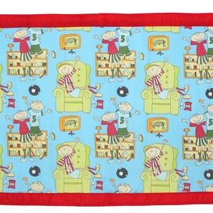 Falvédő, Gyerek & játék, Gyerekszoba, Falvédő, takaró, Jó minőségű pamutvászonból, vatelinnel bélelve készítettem a falvédőt. Méret:200x75 cm Hátsó bújtató..., Meska
