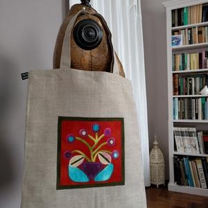 Virágos bevásárló  táska (vighilda) - Meska.hu