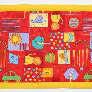 Falvédő, Otthon & Lakás, Lakástextil, Falvédő, Jó minőségű pamutvászonból, vatelinnel bélelve készítettem a falvédőt. Méret:200x72 cm Hátsó bújtató..., Meska