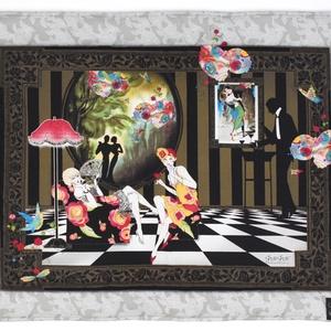 Textilkép, Otthon & Lakás, Lakástextil, Falvédő, Jó minőségű pamutvászonból, vatelinnel bélelve készítettem a textil képet. Méret:65X55 cm Hátsó bújt..., Meska