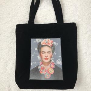 Textil táska Frida Kahlo képpel, Táska & Tok, Kézitáska & válltáska, Varrás, Meska