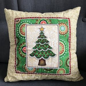 Karácsonyi díszpárna, Karácsony, Karácsonyi lakásdekoráció, Karácsonyi lakásdíszek, Varrás, Meska