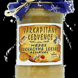 Várkapitány kedvence – mézes fokhagyma lekvár almával, Lekvár, Élelmiszer, Élelmiszer előállítás, Elsősorban sertéshúshoz, kolbászfélékhez ajánlva.\n\nÖsszetevők:\nfokhagyma, alma, édesítőszer: eritrit..., Meska