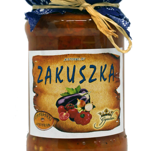 Zakuszka, Lekvár, Élelmiszer, Élelmiszer előállítás, Szendvicsekhez, pirítósra ajánlva.\n\nÖsszetevők:\npadlizsán , paradicsompaprika , paradicsom , vörösha..., Meska