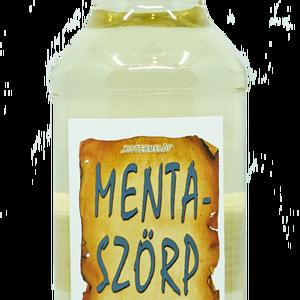 Menta szörp (500 ml), Élelmiszer, Szörp, Összetevők: víz, cukor, mentalevél, étkezési sav: citromsav, tartósítószer: kálium-szorbát..., Meska