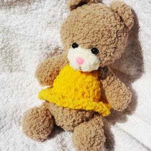 Tütüs Klára, Gyerek & játék, Gyerekszoba, Játék, Játékfigura, Plüssállat, rongyjáték, Horgolás, Kötés, Klára maci egy sportos lány balerina maci keresi az igazi medvéjét, aki csak az ő kegyeiért brummog...., Meska