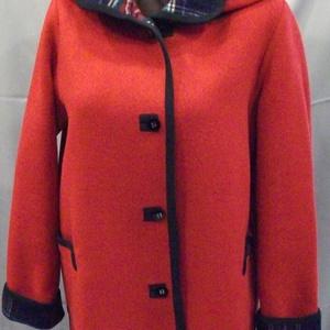 Kasmir merinó kabát, Kabát, Női ruha, Ruha & Divat, Varrás, Kasmír-merinó anyagból készült kifordítható kabát. Gombot csak átrakjuk a másik oldalra, mivel kiveh..., Meska
