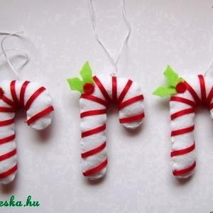Filc karácsonyi cukorpálca (vikuszi) - Meska.hu