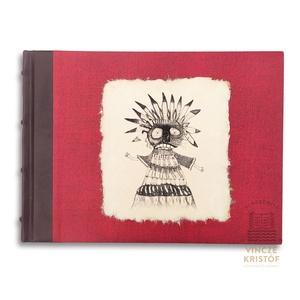 Egyedi grafikával készített, INDIÁN MESÉK című artbook, szöveg + grafika, merített papír, valódi bőr, vászon borítás, Otthon & Lakás, Papír írószer, Könyv, Könyvkötés, Fotó, grafika, rajz, illusztráció, Részben bőr, részben pedig vászon borítású, bordázott gerinccel készült mesekönyv.\n\nMit rejt ez a kö..., Meska