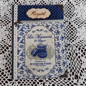 Receptfüzet macaronnal a vintage jegyében (vintageajandek) - Meska.hu
