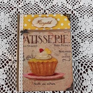 Receptfüzet muffinnal a vintage jegyében (vintageajandek) - Meska.hu