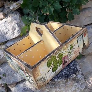 Vintage stílusú párizsi mintás tároló doboz osztott négyes (vintageajandek) - Meska.hu