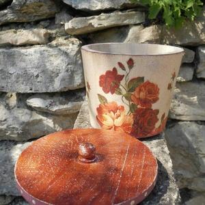 Vintage rózsás cukortartó/kávétartó/keksz tartó (vintageajandek) - Meska.hu