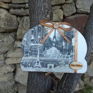 Vintage Párizs motívumos ajtódísz/lakásdekoráció (vintageajandek) - Meska.hu