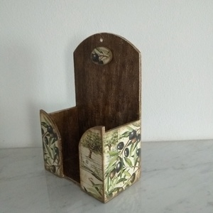 Vintage olíva mintás zsebkendőtartó (vintageajandek) - Meska.hu