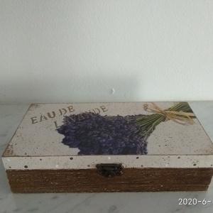 Vintage csokros levendulás ékszertartó doboz/varrós doboz (vintageajandek) - Meska.hu