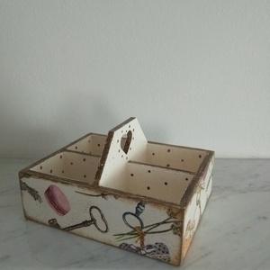 Vintage stílusú macaronos mintás tároló doboz szett (vintageajandek) - Meska.hu
