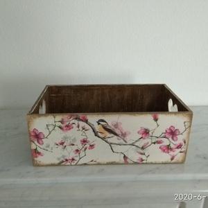 Vintage stílusú madárkás tároló doboz /asztali tolltartó/sminktartó/ékszertartó (vintageajandek) - Meska.hu