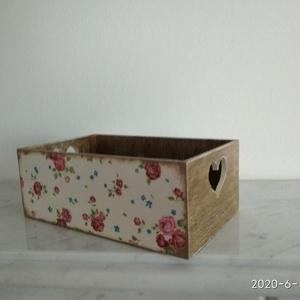 Vintage stílusú apró rózsás mintás tároló doboz /asztali tolltartó/sminktartó/ékszertartó (vintageajandek) - Meska.hu