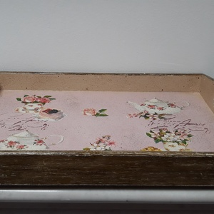 Vintage stílusú süti mintás tálca fából (vintageajandek) - Meska.hu