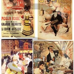 Plakát sorozat : Moulin Rouge, Papír, Decoupage papír, Decoupage, szalvétatechnika, Decoupage minták, A 4-s méretű rizsnyomat, vékony 20 gr-s rizspapíron, découpage technikához. Az eredeti nyomatot vízj..., Meska
