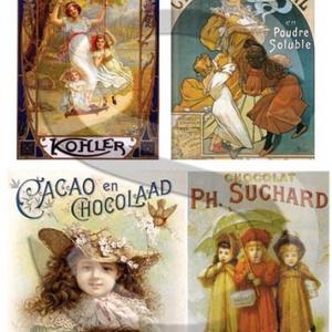 Plakát sorozat : Csokiplakátok, Papír, Decoupage papír, Decoupage, szalvétatechnika, Decoupage minták, A 4-s méretű rizsnyomat, vékony 20 gr-s rizspapíron, découpage technikához. Az eredeti nyomatot vízj..., Meska