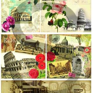Vintage sorozat:Róma, Papír, Decoupage papír, Decoupage, szalvétatechnika, Decoupage minták, A 4-s méretű rizsnyomat, vékony 20 gr-s rizspapíron, découpage technikához. Az eredeti nyomatot vízj..., Meska