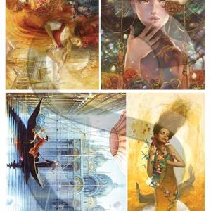 Fantasy sorozat: Velence, Papír, Decoupage papír, Decoupage, szalvétatechnika, Decoupage minták, A 4-s méretű rizsnyomat, vékony 20 gr-s rizspapíron, découpage technikához. Az eredeti nyomatot vízj..., Meska