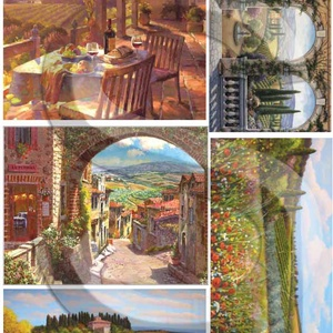 Akvarell sorozat: Toscana, Papír, Decoupage papír, Decoupage, szalvétatechnika, Decoupage minták, Alkotók boltja