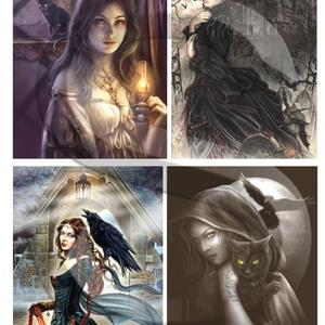 Fantasy sorozat : Boszorkányok órája, Papír, Decoupage papír, Decoupage, szalvétatechnika, Decoupage minták, A 4-s méretű rizsnyomat, vékony 20 gr-s rizspapíron, découpage technikához. Az eredeti nyomatot vízj..., Meska