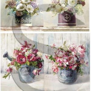 Akvarell sorozat: Virágcsokrok, Papír, Decoupage papír, A 4-s méretű rizsnyomat, vékony 20 gr-s rizspapíron, découpage technikához. Az eredeti nyomatot vízj..., Meska