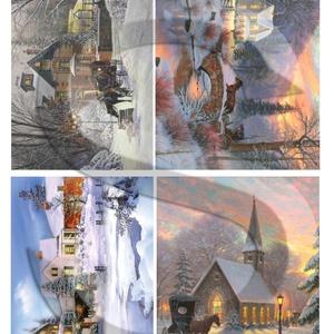 Karácsonyi sorozat: Karácsonyi lovaskocsizás, Papír, Decoupage papír, Decoupage, szalvétatechnika, Decoupage minták, A 4-s méretű rizsnyomat, vékony 20 gr-s rizspapíron, découpage technikához. Az eredeti nyomatot vízj..., Meska