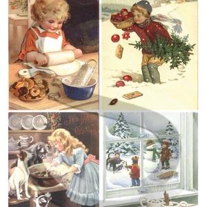 Karácsonyi sorozat: Karácsonyi sütik, Papír, Decoupage papír, Decoupage, szalvétatechnika, Decoupage minták, A 4-s méretű rizsnyomat, vékony 20 gr-s rizspapíron, découpage technikához. Az eredeti nyomatot vízj..., Meska