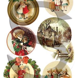 Karácsonyi sorozat: Karácsonyi gömbök, Papír, Decoupage papír, Decoupage, szalvétatechnika, Decoupage minták, A 4-s méretű rizsnyomat, vékony 20 gr-s rizspapíron, découpage technikához. Az eredeti nyomatot vízj..., Meska