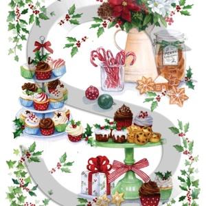 Karácsonyi sorozat: Karácsonyi finomságok, Papír, Decoupage papír, Decoupage, szalvétatechnika, Decoupage minták, A 4-s méretű rizsnyomat, vékony 20 gr-s rizspapíron, découpage technikához. Az eredeti nyomatot vízj..., Meska
