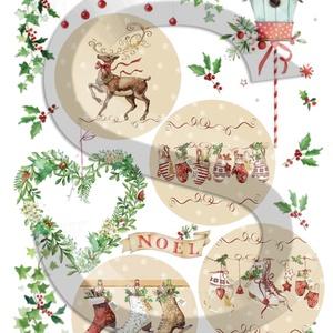 Karácsonyi sorozat: Karácsonyi country gömbök, Papír, Decoupage papír, Decoupage, szalvétatechnika, Decoupage minták, A 4-s méretű rizsnyomat, vékony 20 gr-s rizspapíron, découpage technikához. Az eredeti nyomatot víz..., Alkotók boltja