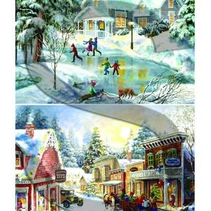 Karácsonyi sorozat: Csodás téli tájképek 2., Papír, Decoupage papír, Decoupage, szalvétatechnika, Decoupage minták, A 4-s méretű rizsnyomat, vékony 20 gr-s rizspapíron, découpage technikához. Az eredeti nyomatot vízj..., Meska