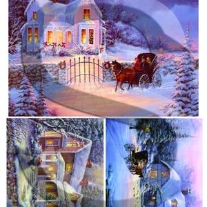 Karácsonyi sorozat: Csodás téli tájképek 3., Papír, Decoupage papír, Decoupage, szalvétatechnika, Decoupage minták, A 4-s méretű rizsnyomat, vékony 20 gr-s rizspapíron, découpage technikához. Az eredeti nyomatot vízj..., Meska