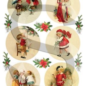Karácsonyi sorozat: Karácsonyi gömbök 2., Papír, Decoupage papír, Decoupage, szalvétatechnika, Decoupage minták, A 4-s méretű rizsnyomat, vékony 20 gr-s rizspapíron, découpage technikához. Az eredeti nyomatot vízj..., Meska